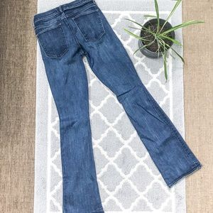 Gap baby boot flare medium blue jean high waisted